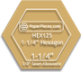 1-1/4 Hexagon Acrylic Fabric Cutting Template (3/8 Seam Allowance)