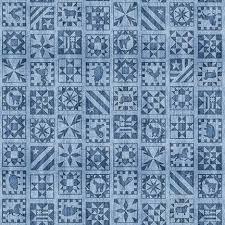 Bountiful - Quilt Squares - Lt Blue