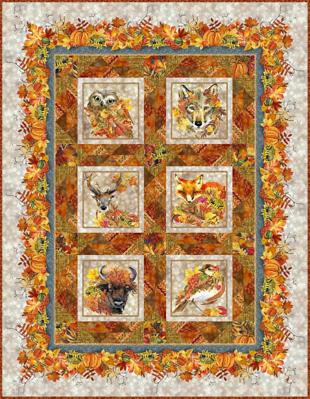 Our Autumn Friends Quilt Kit