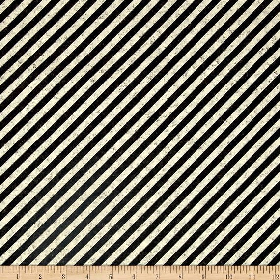 Full Steam Ahead - Bias Stripe (Cream & Black)