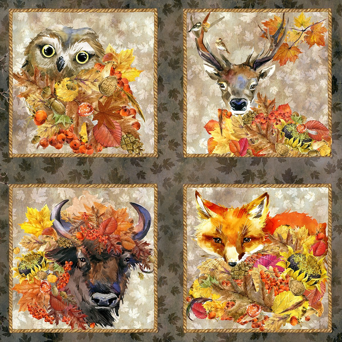 Our Autumn Friends - Panel Harvest