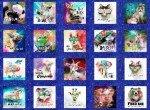 Blue Sassier Animals Small Panel Digitally Printed