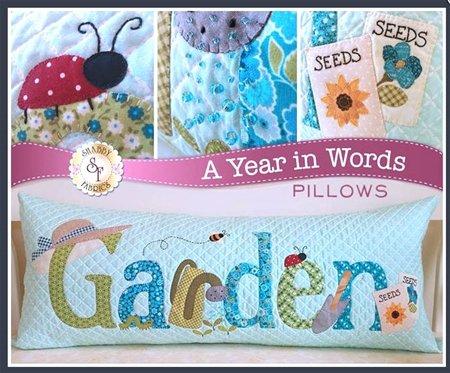 A Year in Words-Garden Pillow-June