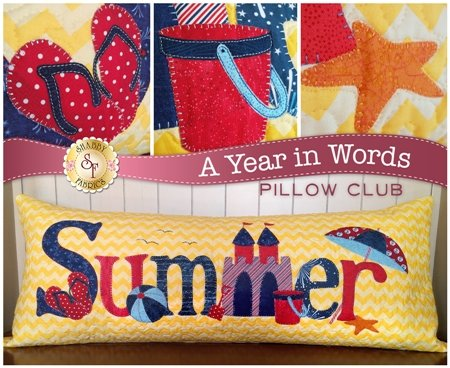 A Year in Words-Summer Pillow-July