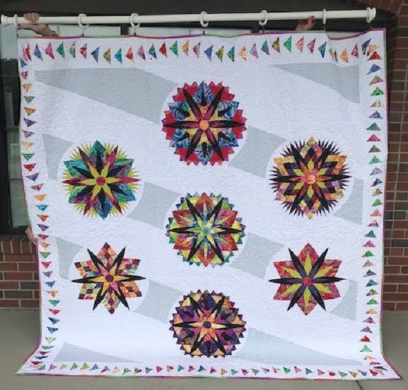 Candy Coated Snowflake Kit - Kaffe Version (with pattern)