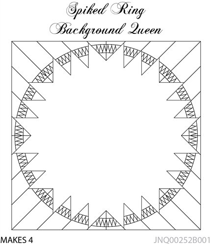 Spriked Ring Background Queen foundation papers