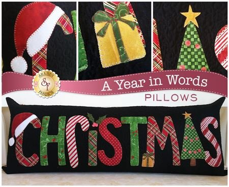 A Year in Words- Christmas Pillow-December