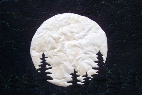 NIGHT MOON STITCHED PHOTO ART CARD