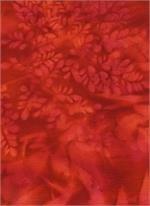Bali Sun Print Bright Red Batik Textiles 614