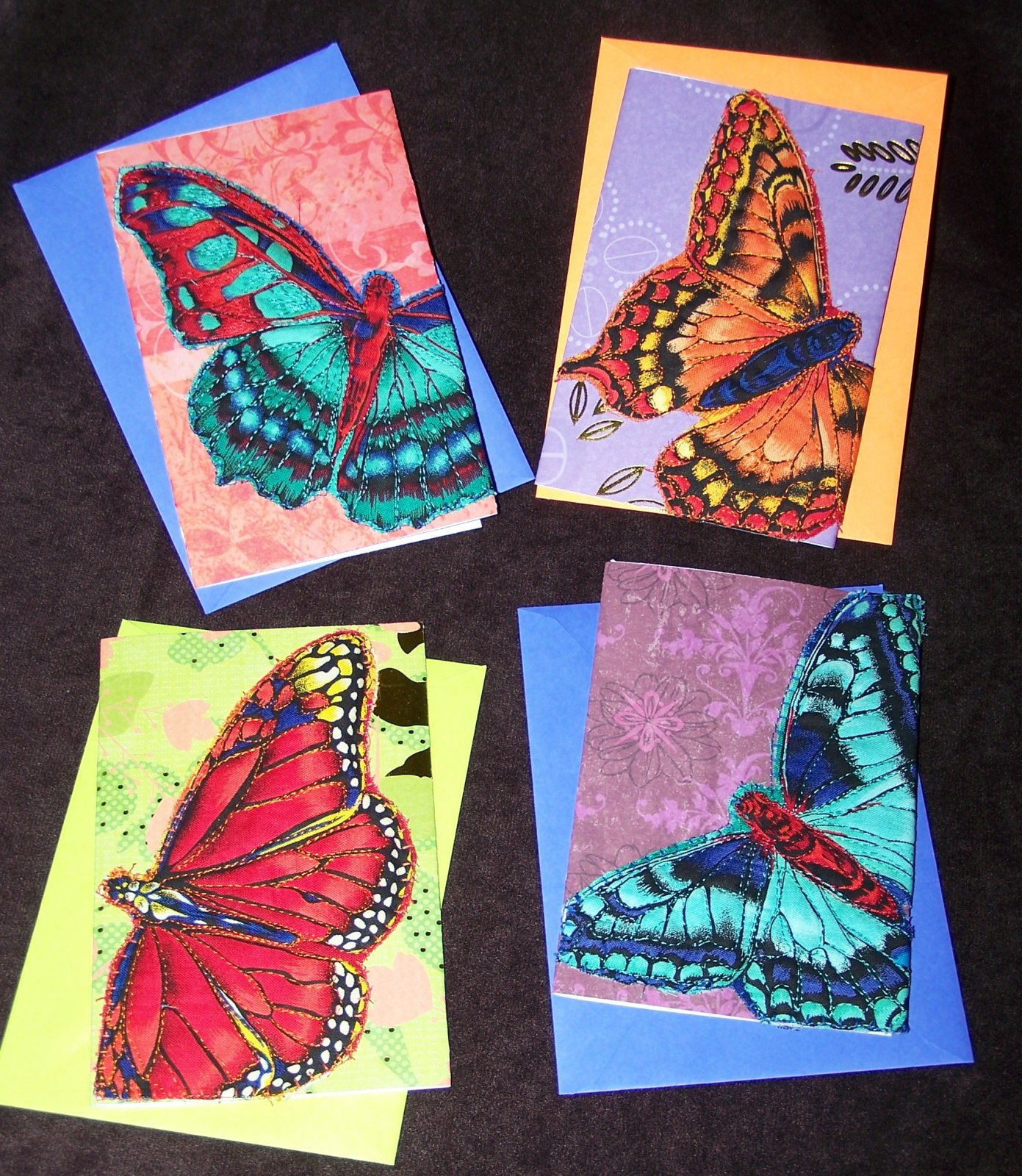 BUTTERFLY QUILTED CARD