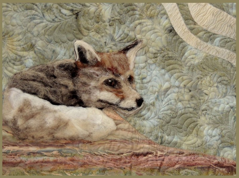 FUR AND FEATHERS STITCHED PHOTO ART CARD