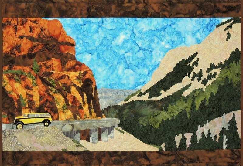 YELLOWSTONE PARK 'DRIVING THE GOLDEN GATE' FABRIC KIT ONLY