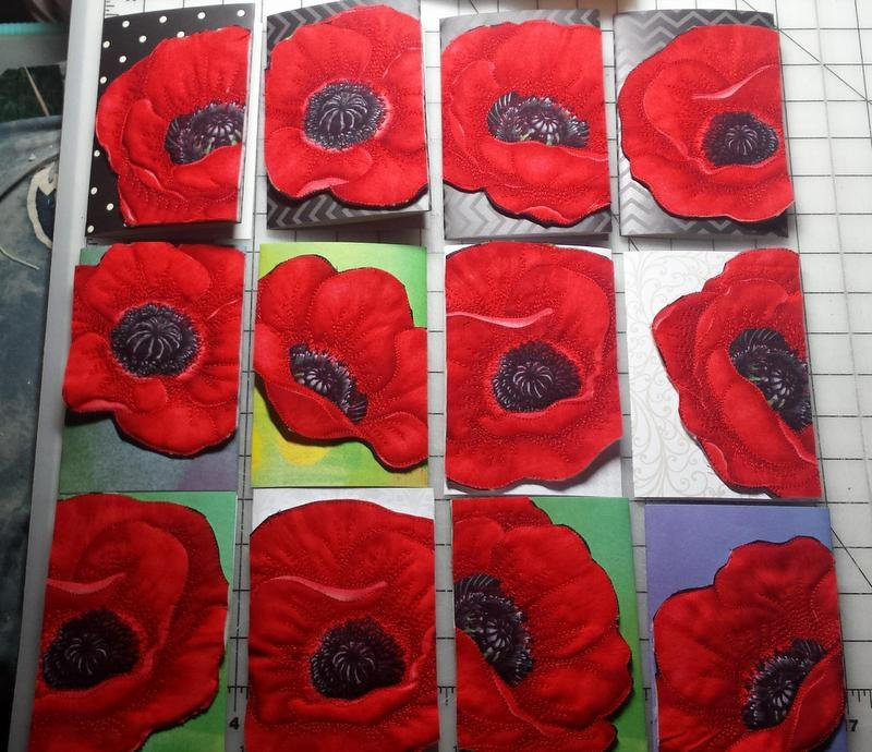 POPPY QUILTED CARD