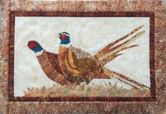 Pheasant Company Applique Pattern