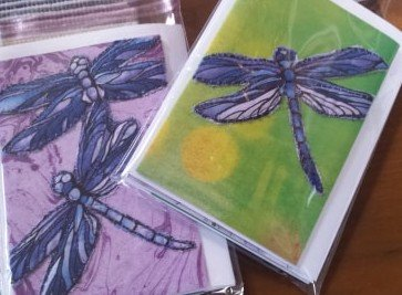 DRAGONFLY QUILTED CARD