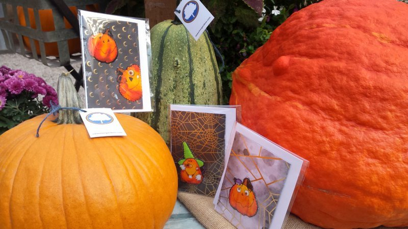 Cute Pumpkin Quilted Greeting Card