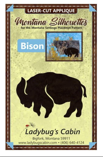 Bison Montana Silhouette Applique (left facing)