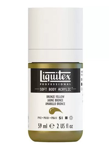 LIQUITEX PROFESSIONAL SOFT BODY ACRYLIC PAINT (2OZ/59ML) Bronze Yellow