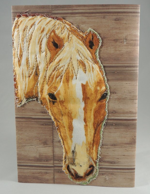 Brown Horse Quilted Greeting Card