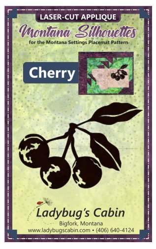 Cherry Montana Silhouette Applique