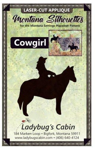 Cowgirl Montana Silhouette Applique