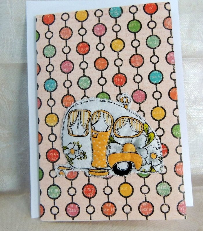 Enjoy the Journey Quilted Camper Card