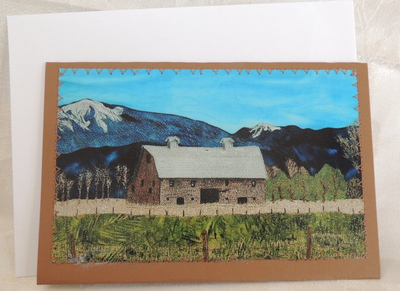BLASDEL BARN STITCHED PHOTO ART CARD