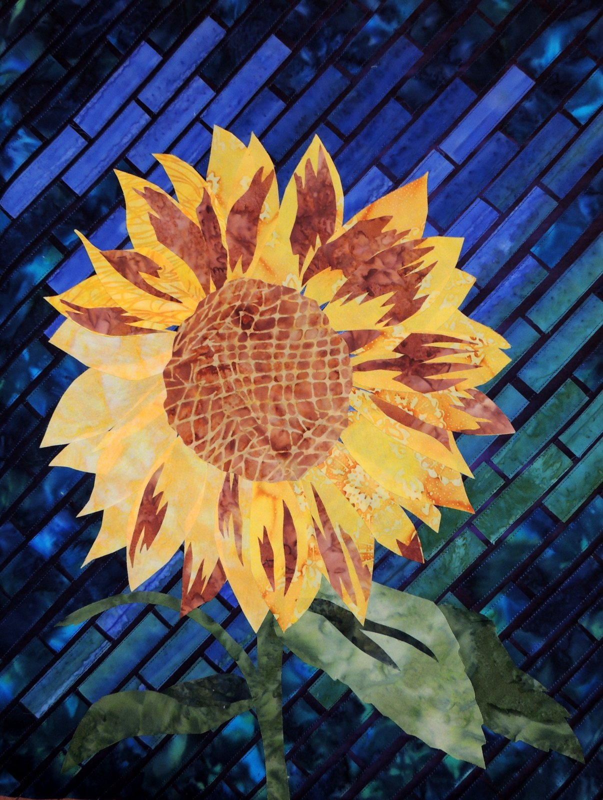 SUNFLOWER  STITCHED PHOTO ART CARD