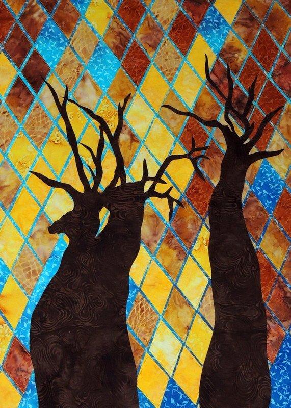 AUTUMN CANOPY STITCHED PHOTO ART CARD