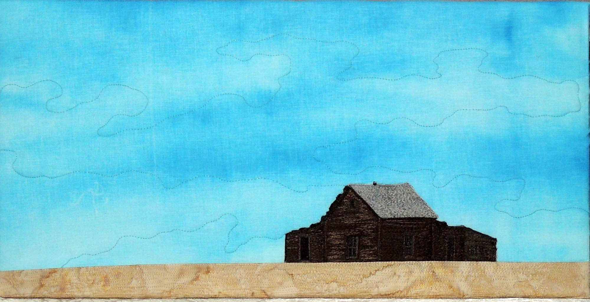 WIDE OPEN SPACES STITCHED PHOTO ART CARD