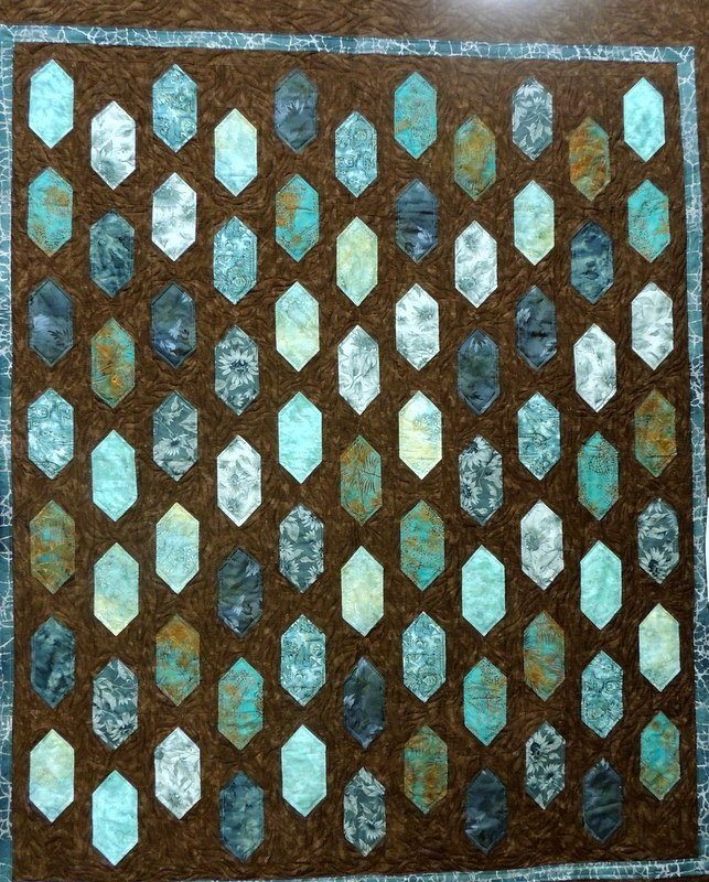 TURQUOISE DREAMS BED QUILT 69 X 80