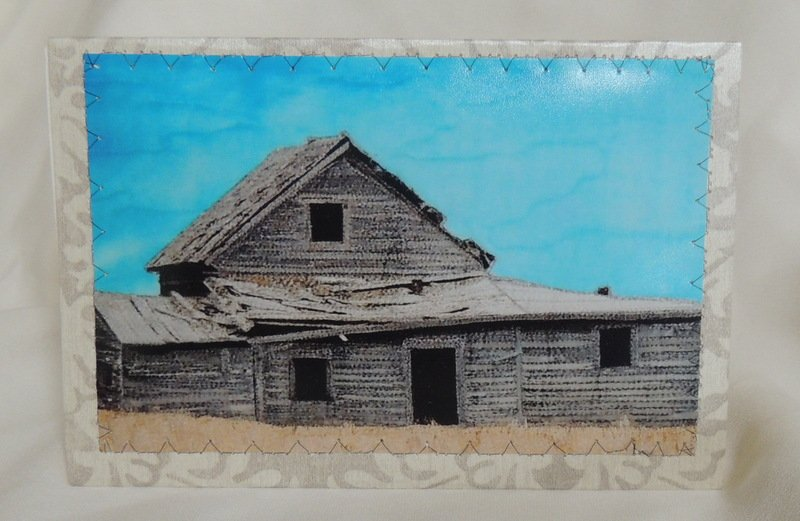 DAYS GONE BY STITCHED PHOTO ART CARD