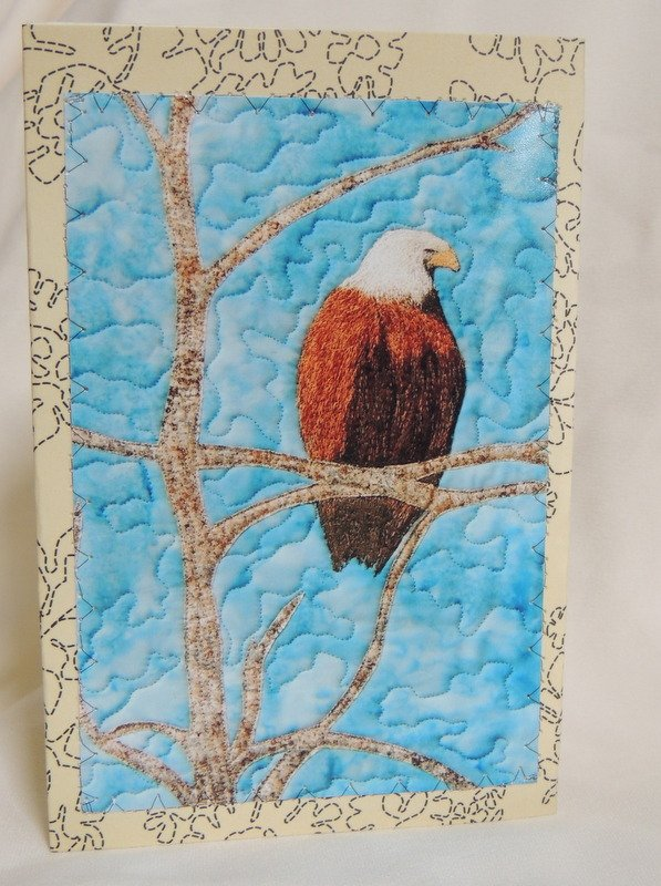 THE PERCH STITCHED PHOTO ART CARD