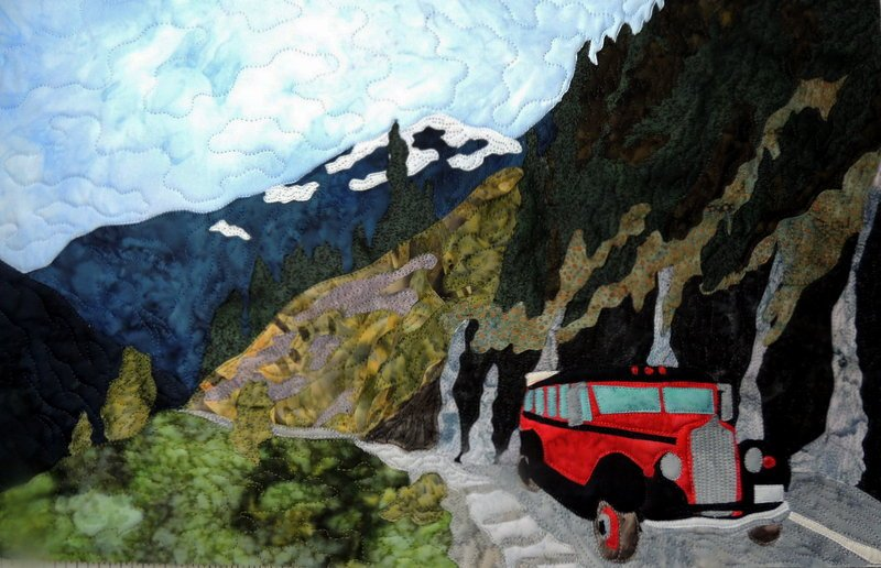 Glacier Park 'The Weeping Wall' applique pattern