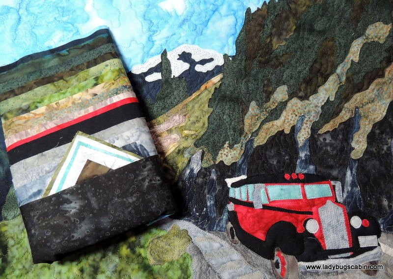 GLACIER PARK 'The Weeping Wall' Pattern with Fabric Kit