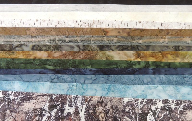 Half Yard Landscape Fabric Collection: Glacier
