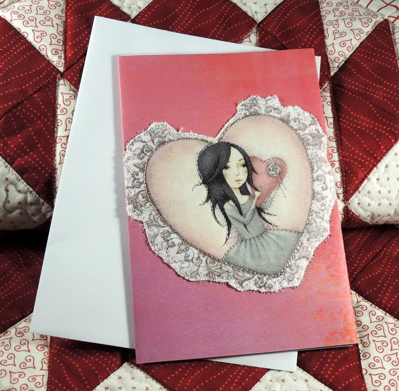 QUILTED VALENTINE GREETING CARD You are so loved