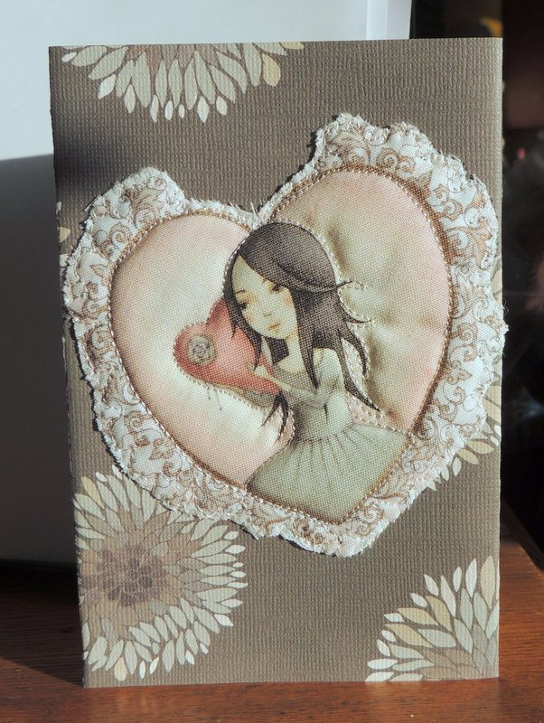 QUILTED VALENTINE GREETING CARDS
