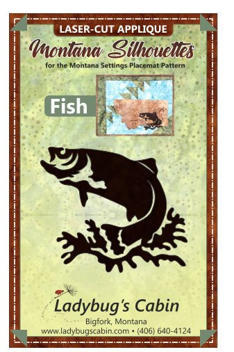 Fish Montana Silhouette Applique left-facing