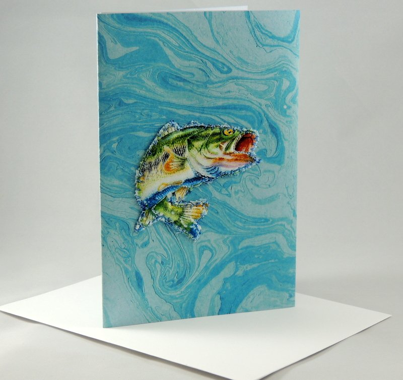 Fish Quilted Greeting Card