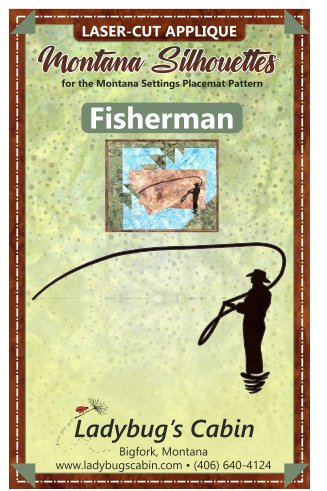 Fisherman Montana Silhouette Applique