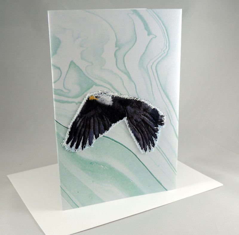 Flying Eagle Quilted Greeting Card