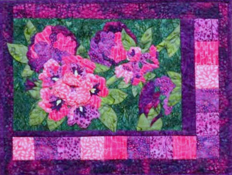 RHODODENDRONS APPLIQUE PATTERN