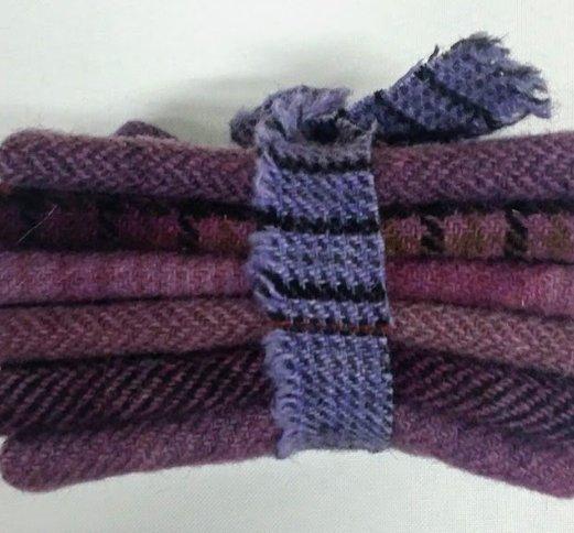 6 Piece Textured Wool Collection Plum