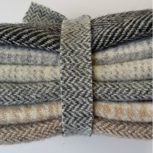 6 Piece Textured Wool Collection Neutral