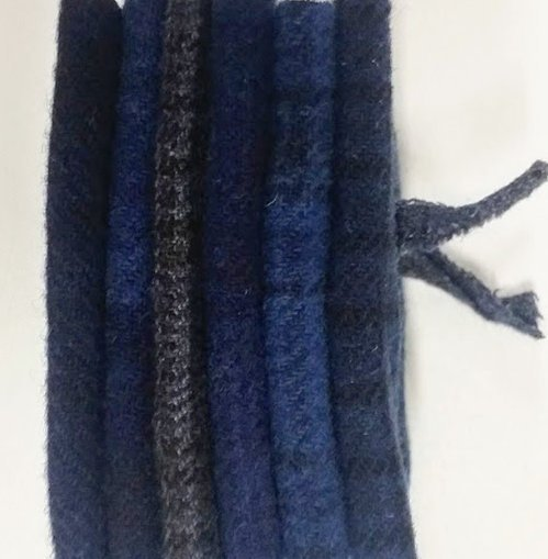 6 Piece Textured Wool Collection Midnight