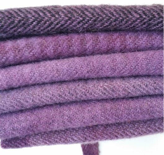 6 Piece Textured Wool Collection Lilac
