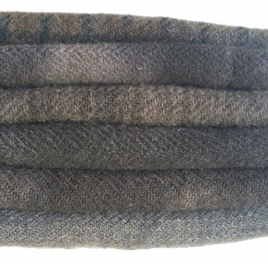 6 Piece Textured Wool Collection Smoke