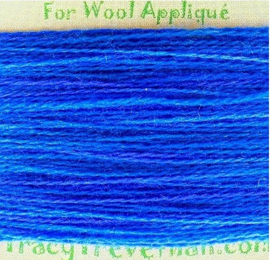 Hand Dyed Variegated Wool Thread Deep Sea