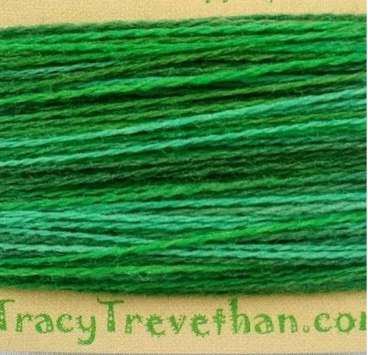 Hand Dyed Variegated Wool Thread Forest